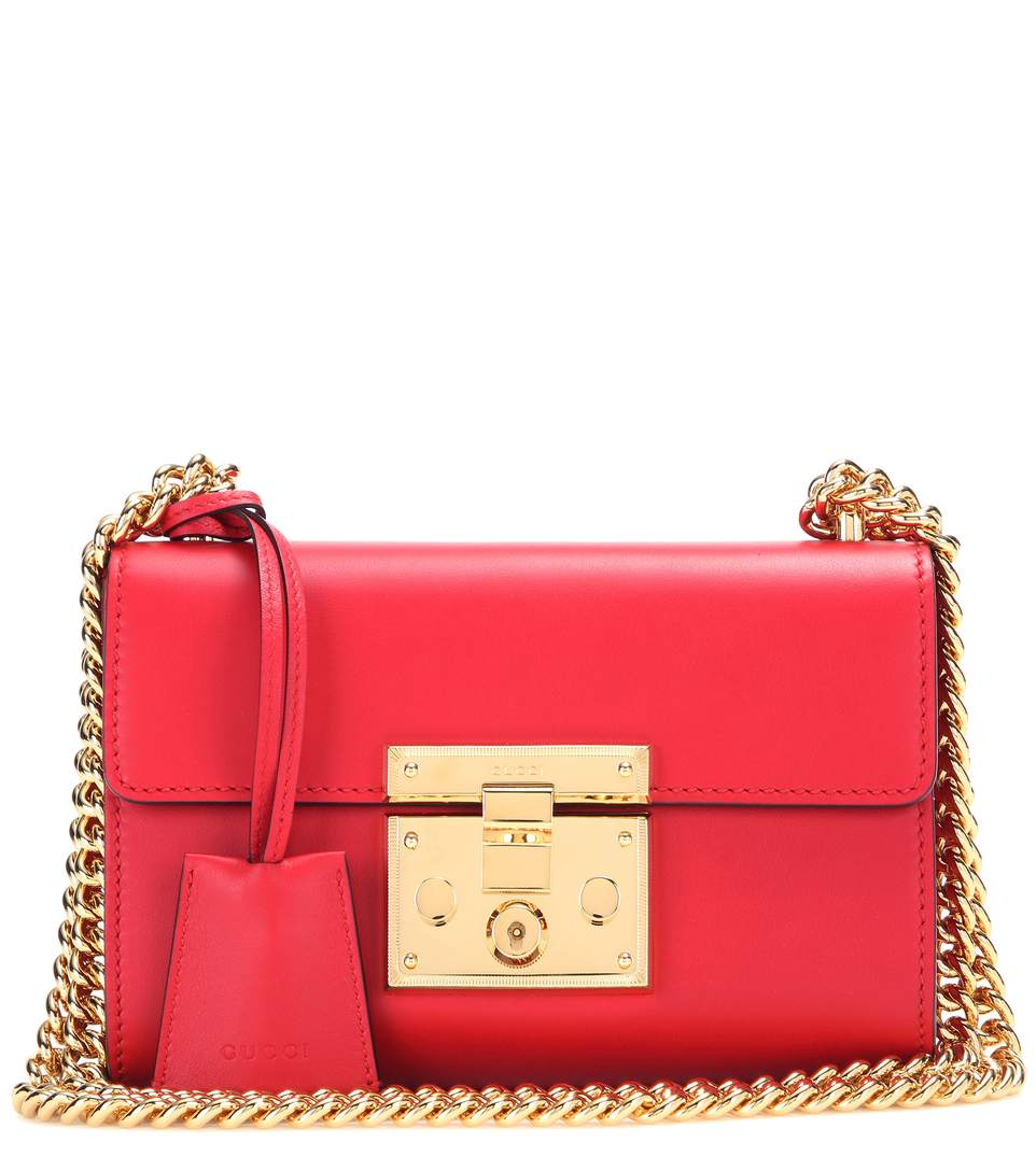 e955adfae831 Gucci Padlock Small Leather Shoulder Bag In Red | ModeSens