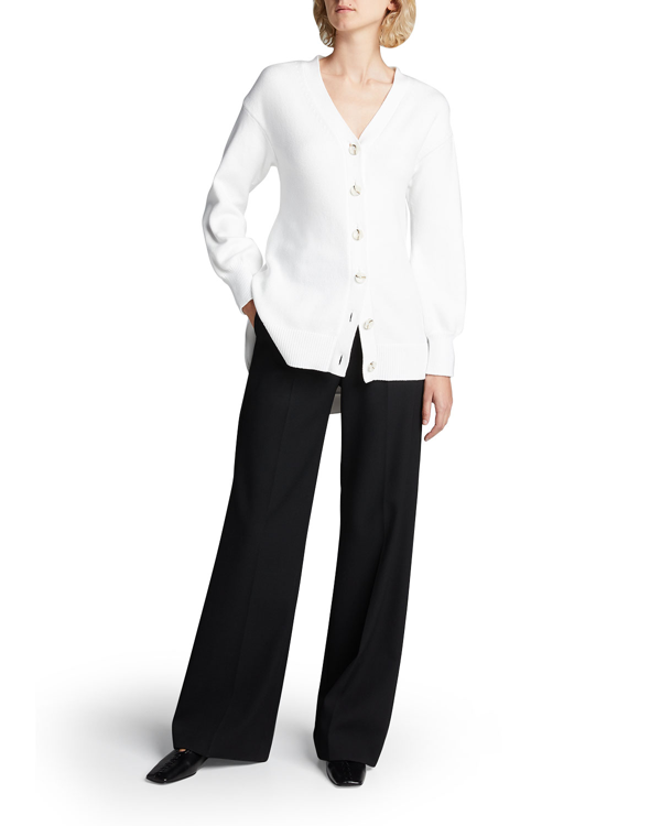 Adeam Obi Tie-back Cardigan In White