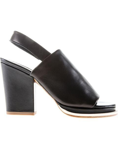 Robert Clergerie Slingback Sandals In Black
