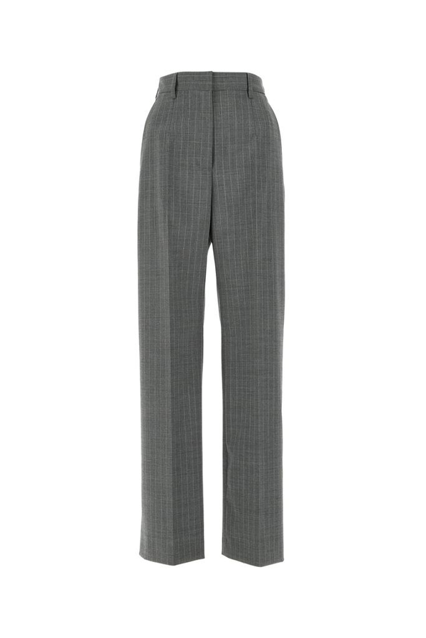 Mm6 Maison Margiela Pinstriped Trousers In Grey
