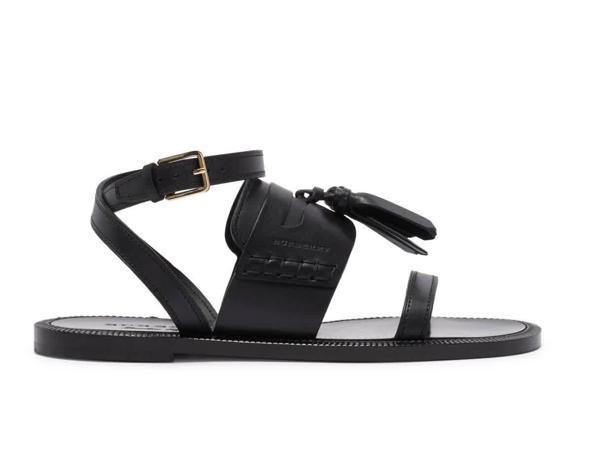 Burberry Bethany Ladies Tassel Sandals In Black