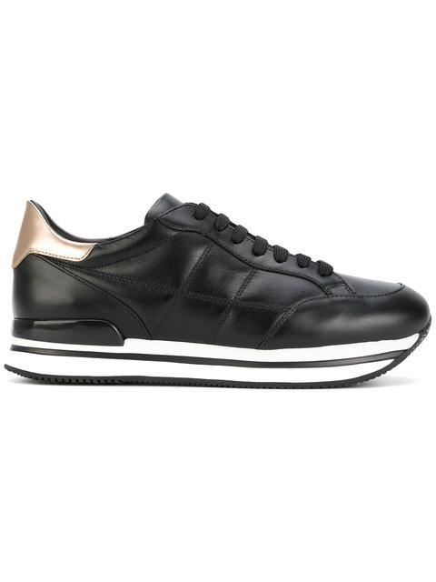 Hogan Allacciata H222 Platform Sneakers In Black