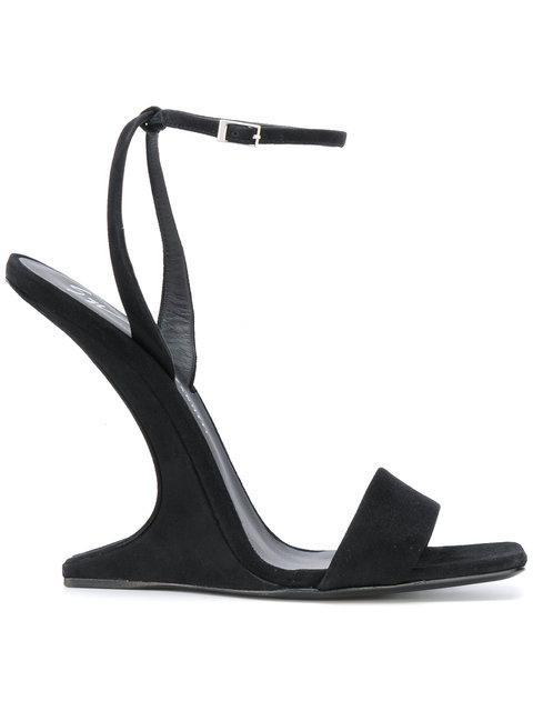 e094e8d1598d Giuseppe Zanotti Nuvo Rock Jeweled Toe Ring Leather Flat Sandals In ...