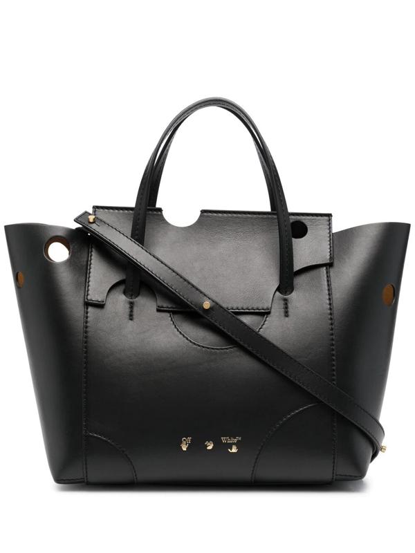 Off-white Burrow-32 Tote Bag In Black