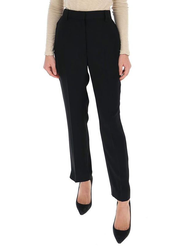 Mm6 Maison Margiela Cropped Tailored Trousers In Black