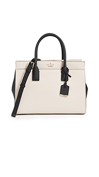 Kate Spade Cameron Street - Candace Leather Satchel - Ivory In Tusk/Black