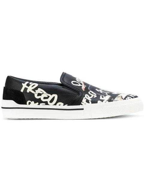 Versace Printed Slip-on Sneakers