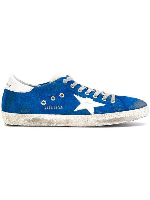Golden Goose Superstar Sneakers In Blu
