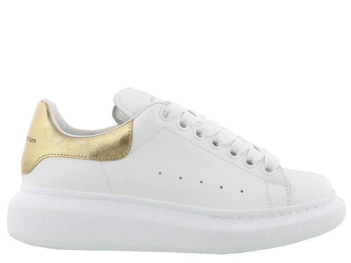 Alexander Mcqueen Oversize Sneakers In White/gold