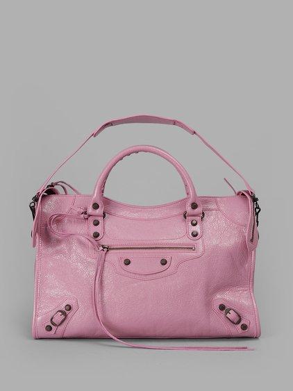 Balenciaga Women's Pink Medium City Bag