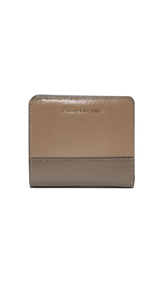 Marc Jacobs Open Face Billfold In French Grey Multi