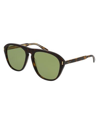 7c2f663b83b Gucci Men s Acetate Aviator Optical Frames W  Sunglasses
