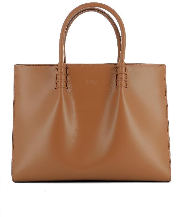 Tod's Brown Leather Handle Bag