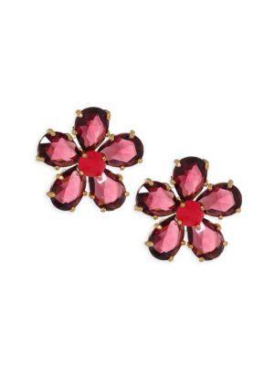 Kate Spade In Full Bloom Statement Stud Earrings In Berry