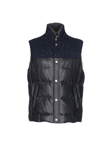Brunello Cucinelli Down Jackets In Dark Blue
