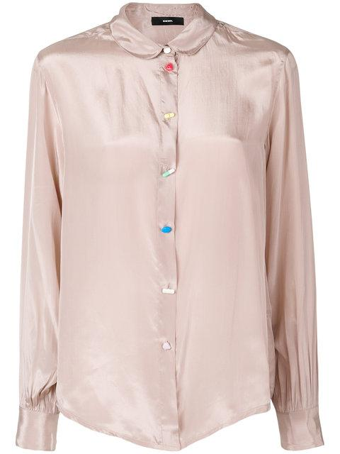 Diesel Classic Fitted Blouse - Neutrals