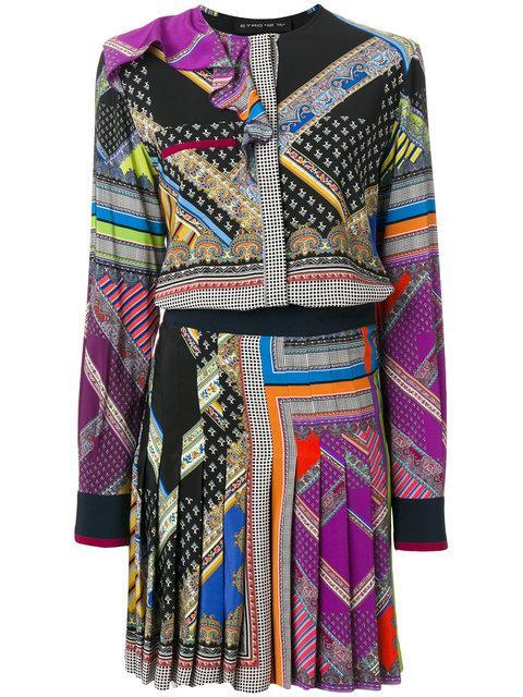 Etro Printed Pleated Dress
