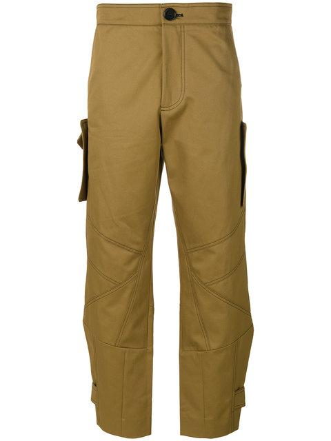 Marni Cropped Cargo Trousers - Green