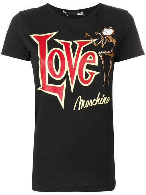 Love Moschino T-shirt T-shirt Women Moschino Love In Black