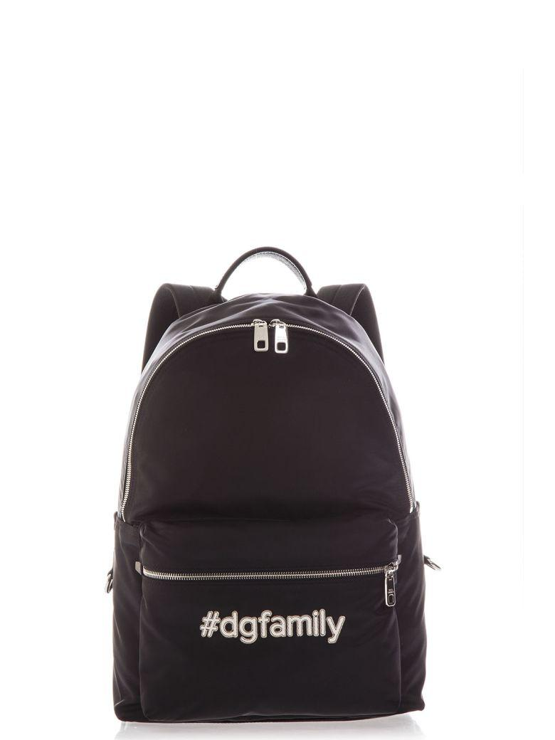 Dolce & Gabbana Dg Family Backpack In Black