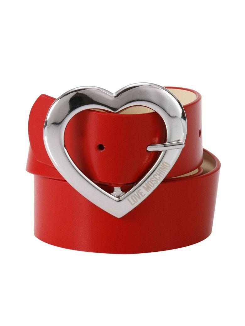 Love Moschino Belt Belt Women Moschino Love In Red
