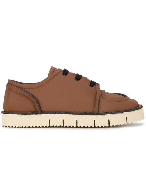 Marni Nylon Sneakers In Brown