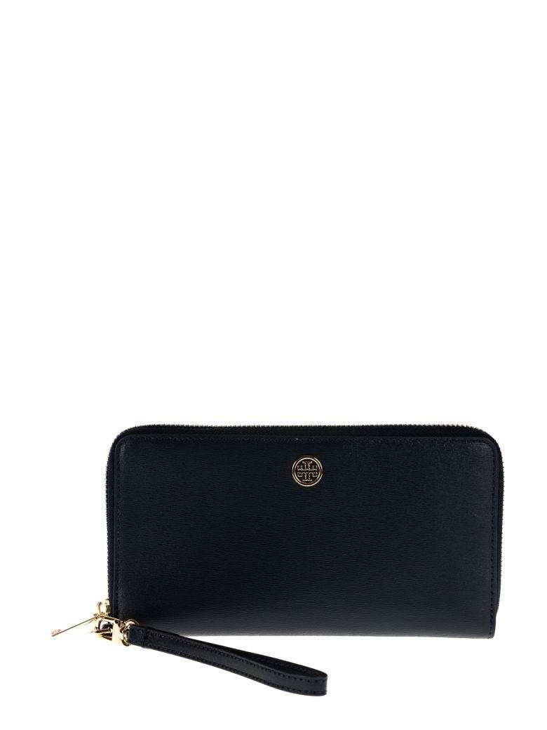 Tory Burch Parker Zip Continental Wallet In Tory Navy