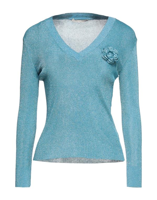 Marco De Vincenzo Sweaters In Pastel Blue