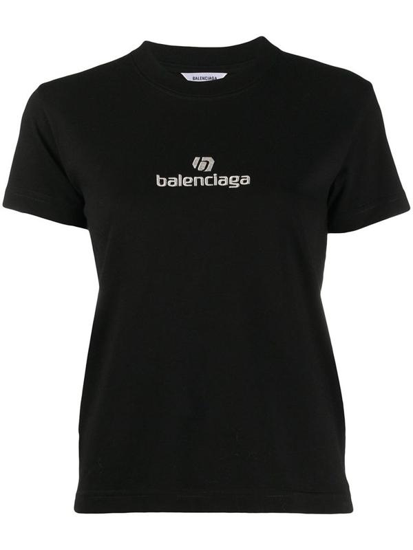 Balenciaga Sponsor Logo T-shirt In Black