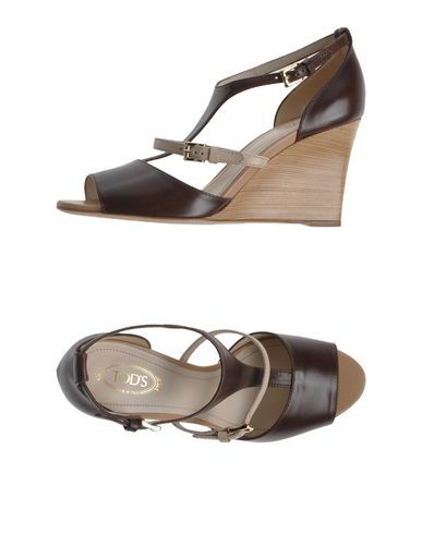 Tod's Sandals In Dark Brown