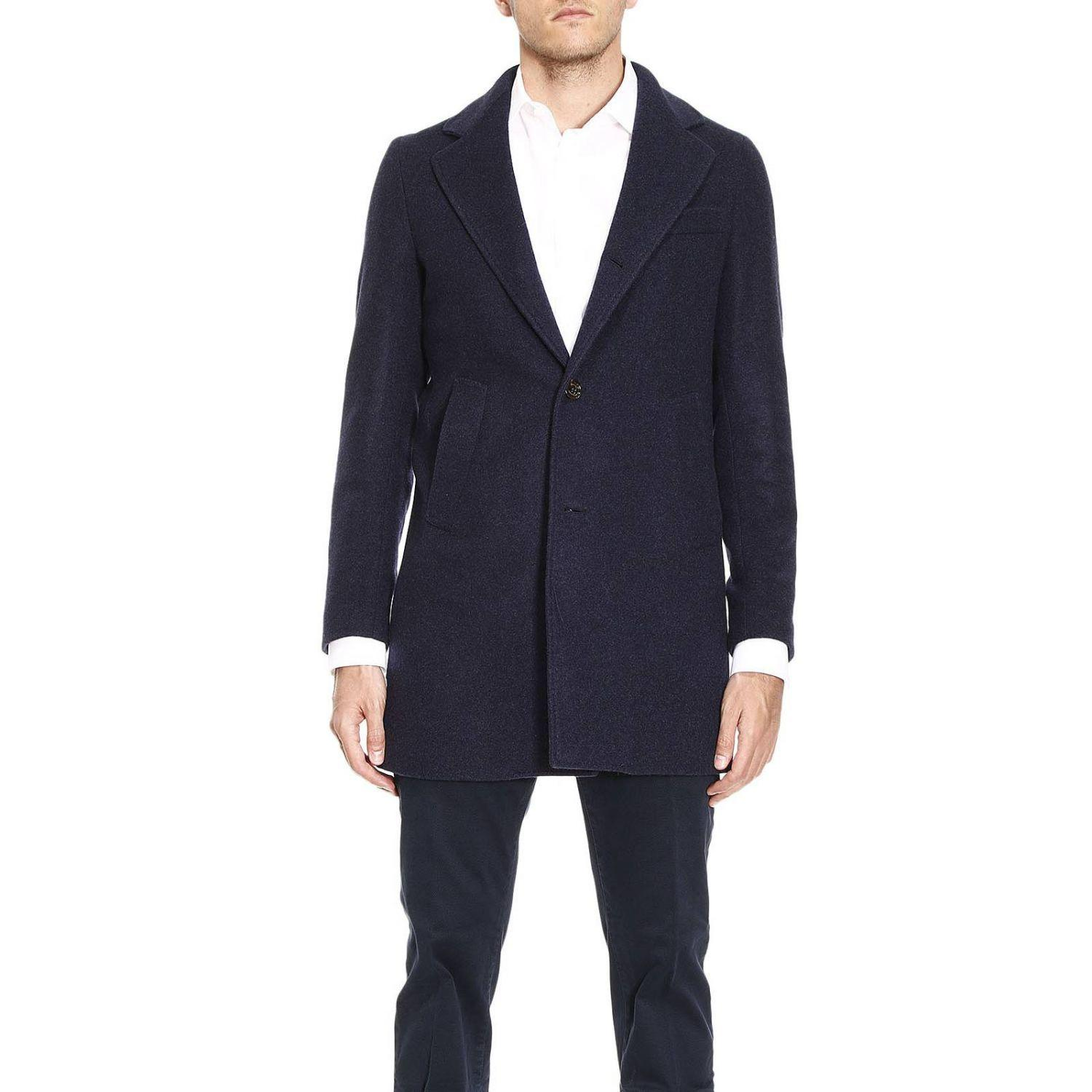 Eleventy Coat Coat Men  In Blue