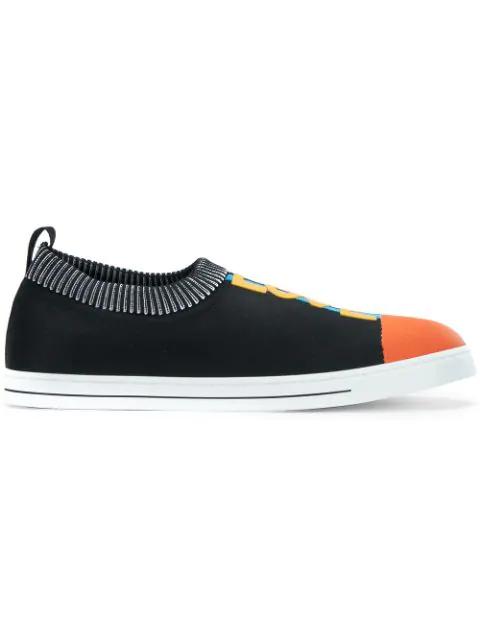 Fendi Love  Slip-on Sneakers - Black