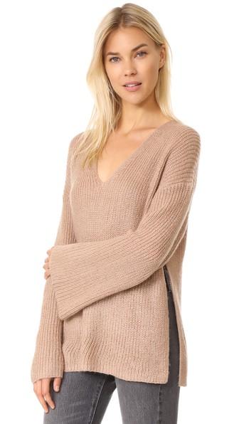Rebecca Minkoff Remi Oversize Sweater In Camel