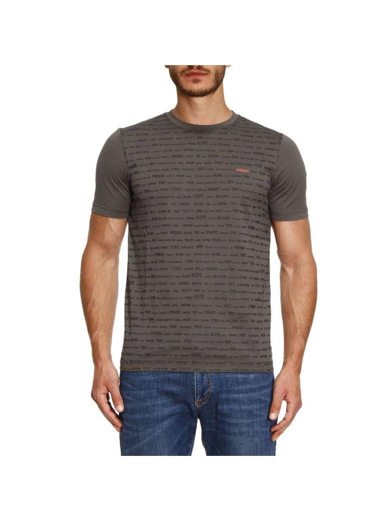 Fendi T-shirt T-shirt Men  In Military