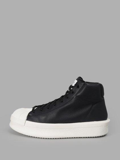 Rick Owens Black Adidas Originals Edition Mastodon Sneakers In 911 Black/white
