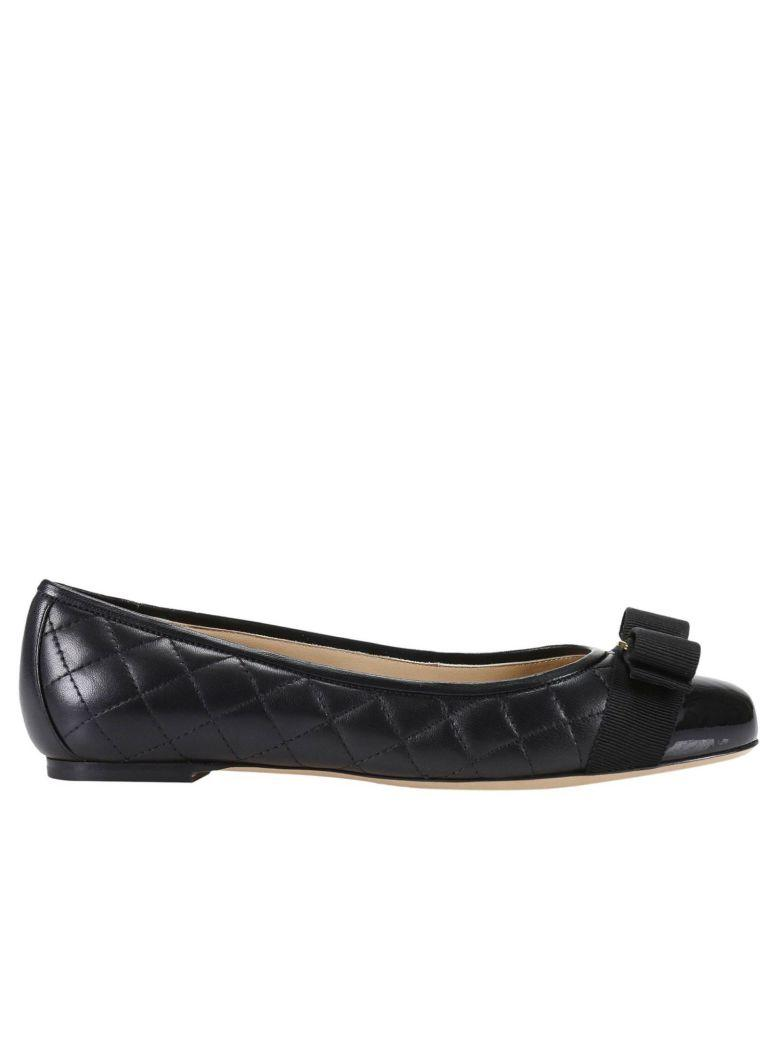 Salvatore Ferragamo Ballet Flats Shoes Women  In Black