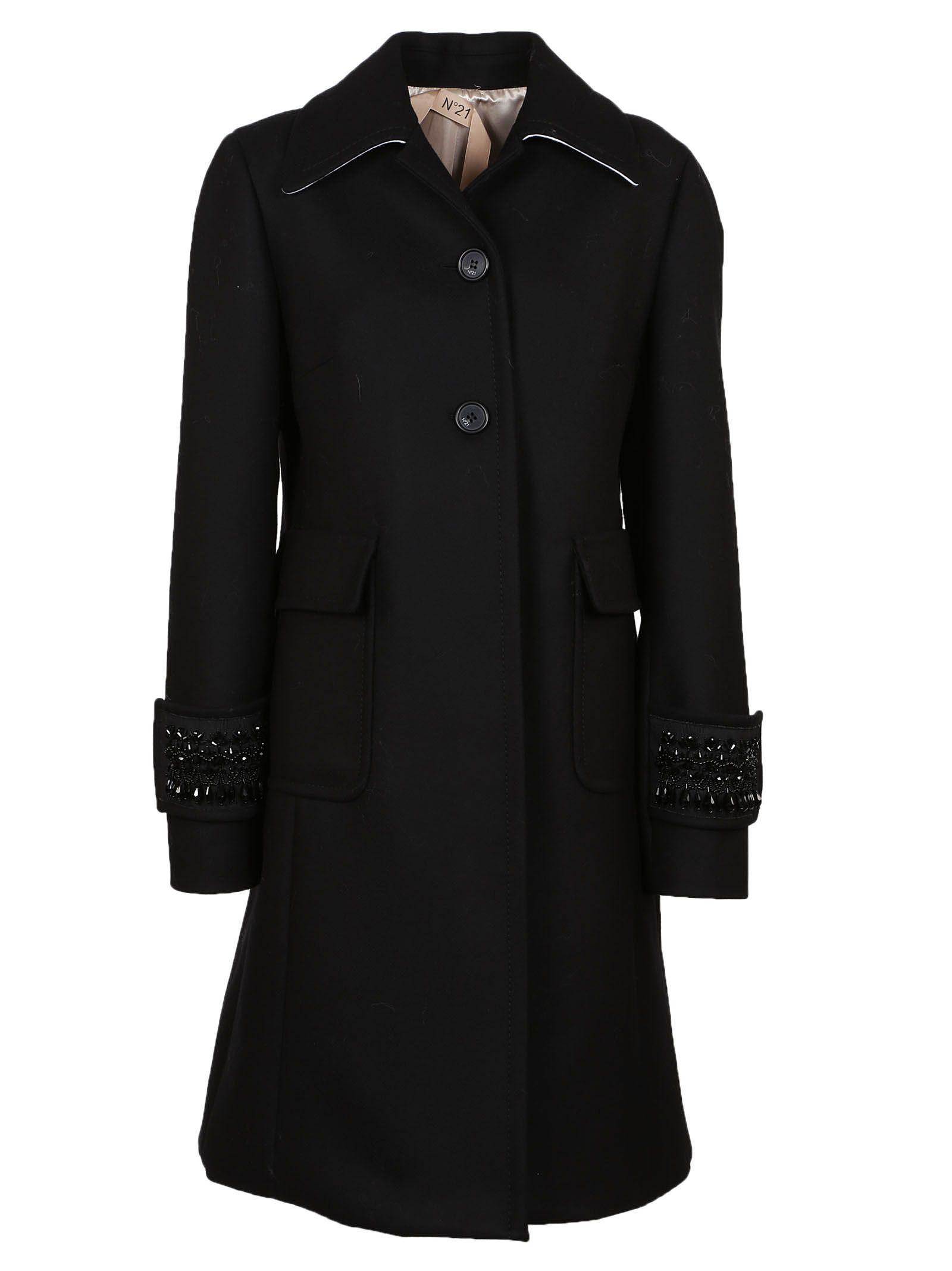 N°21 Embellished Cuff Coat