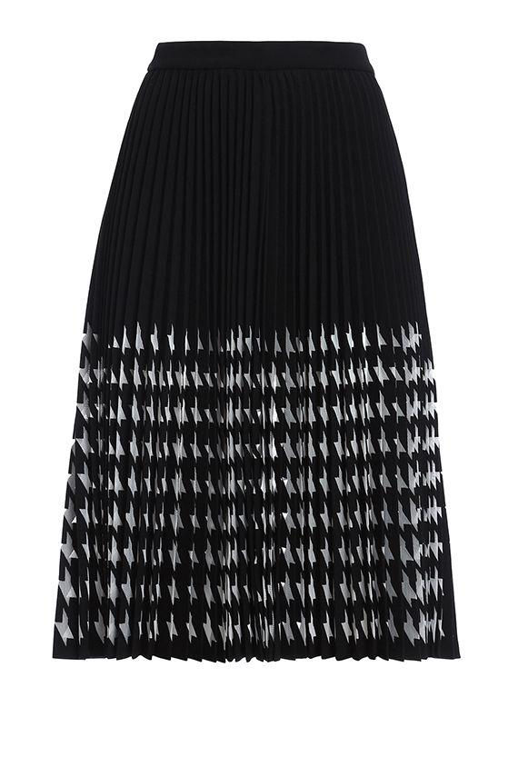 Msgm Skirt Plisset In Black