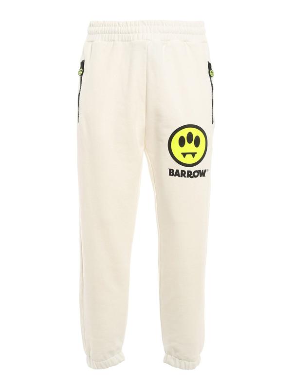 Barrow Cotton Sweat Pants In White