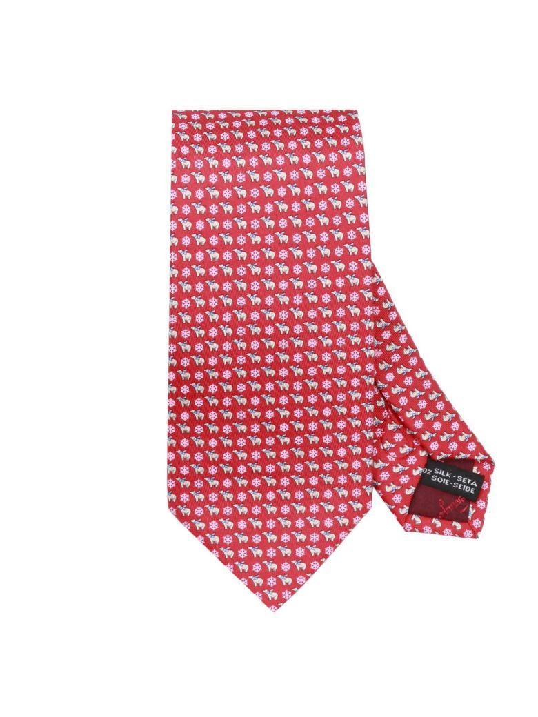 Salvatore Ferragamo Tie Tie Men  In Red