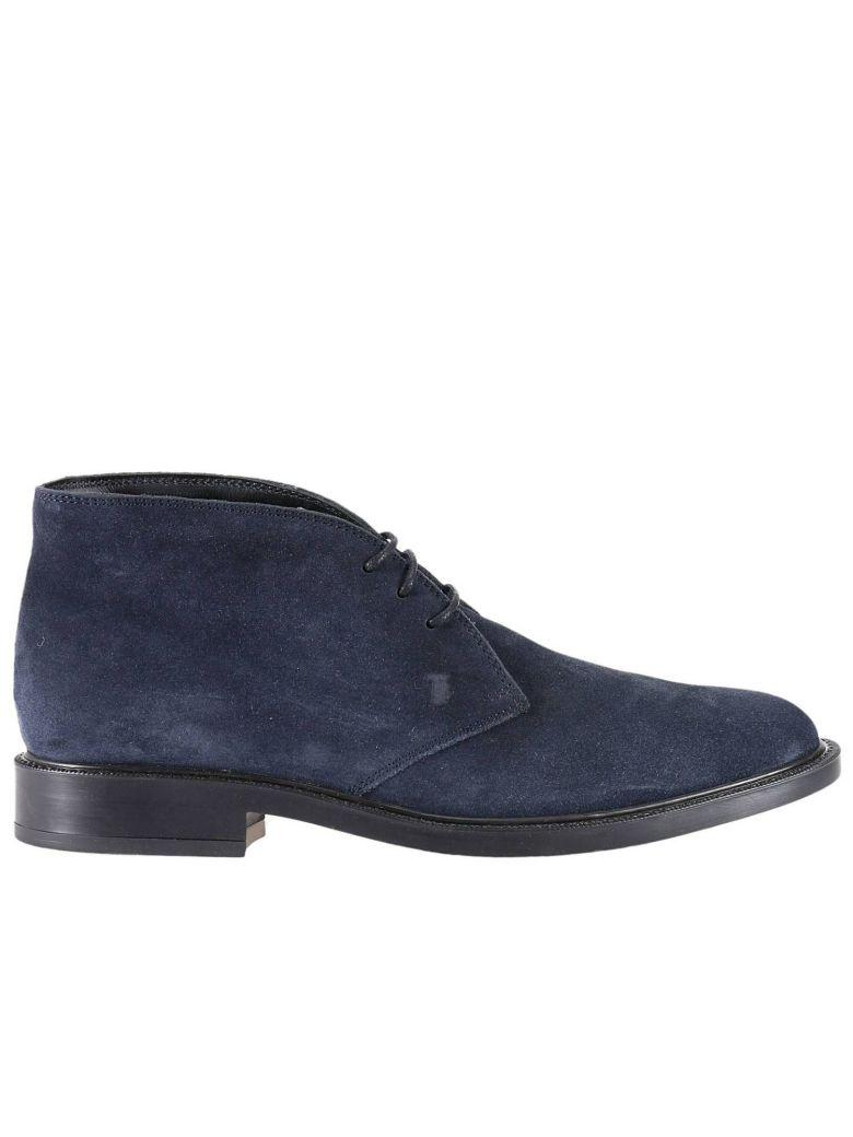 Tod's Chukka Boots Shoes Men Tods In Blue