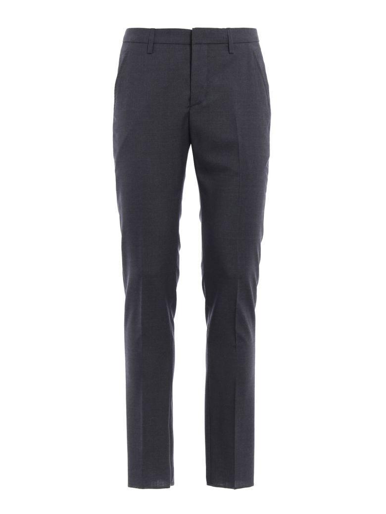 Dondup Gaubert Virgin Wool Trousers In Grey