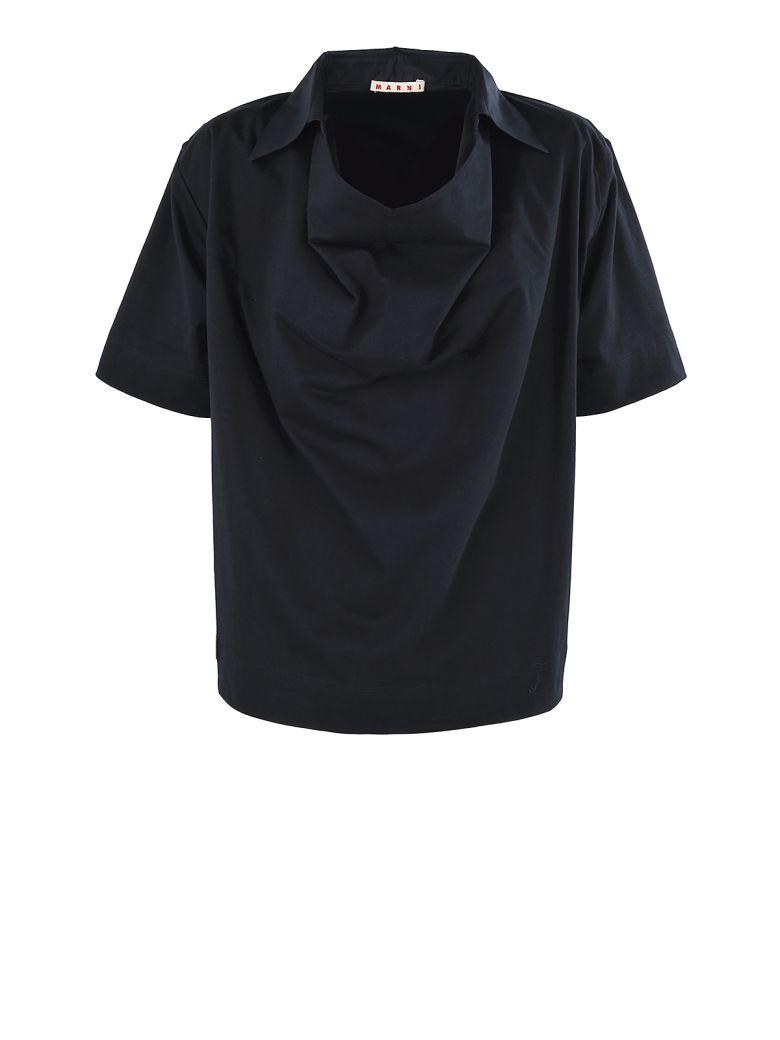 Marni Jersey Cotton T-shirt In Blue