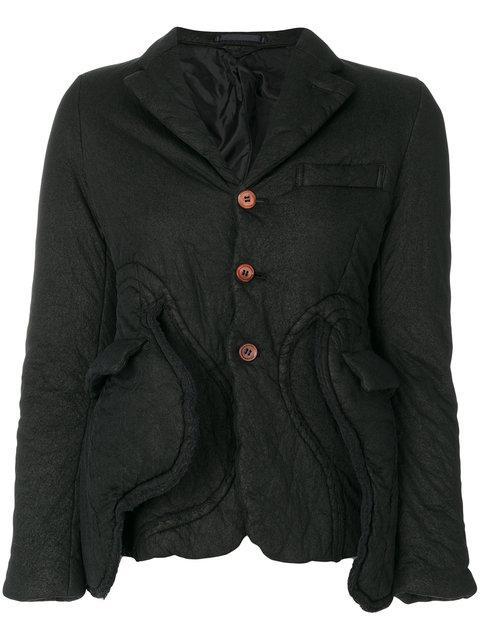 Comme Des GarÇons Black Button-up Jacket In 1 Black