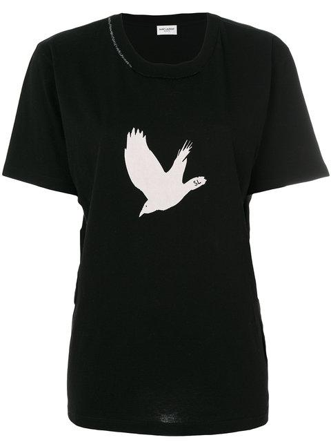 Saint Laurent Bird Print T-shirt