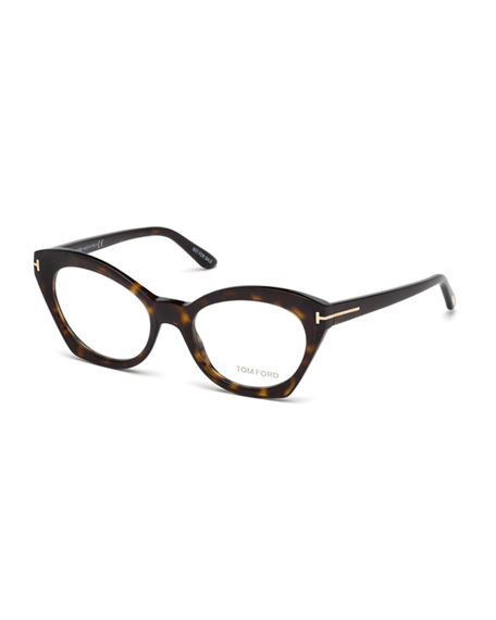 08307c2885e6 Tom Ford Cat-Eye Optical Frames In Brown Pattern
