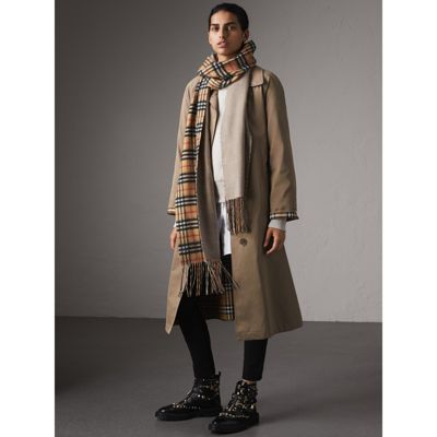 Burberry The Brighton Car Coat In Taupe Brown