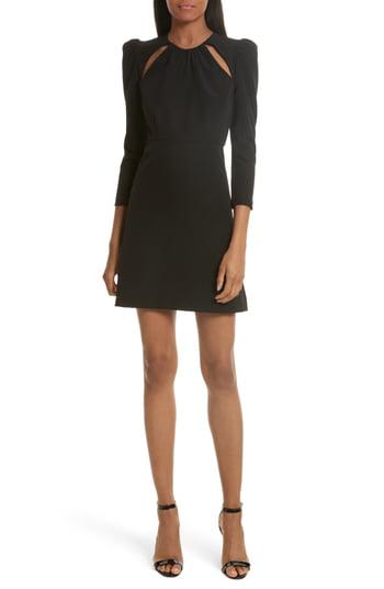 Milly Emma Italian Cady A-line Dress In Black