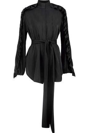 Ellery Woman Audacity Ruffle-trimmed Silk-blend Blouse Black