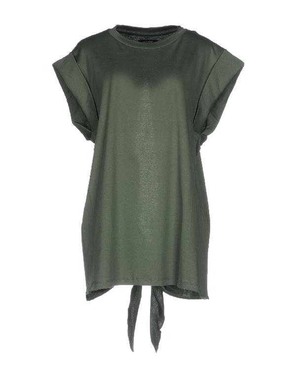 Isabel Marant Green Cotton T-shirt In Military Green